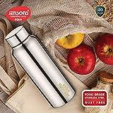 JENSONS Aqua Stainless Steel Thunder Water Bottle 650 ml HIGH Gloss- Set of 6