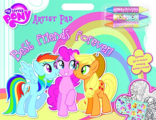 My Little Pony Artist Pad Stickers Crayons Back to School Gift Party Bag Filler