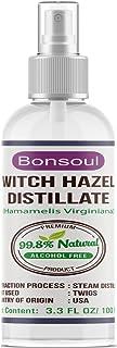 BONSOUL Pure & Natural Alcohol Free Witch Hazel Distillate   Natural Toner & Astringent   (100 ML)