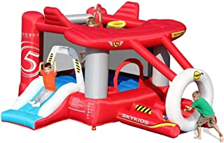 Happy Hop Inflatable Airplane Bouncer With Slide