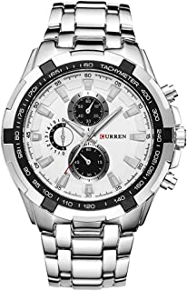 CURREN Watches Men,Sports Waterproof Stainless Steel Quartz Wrist Watch for Men and Boys
