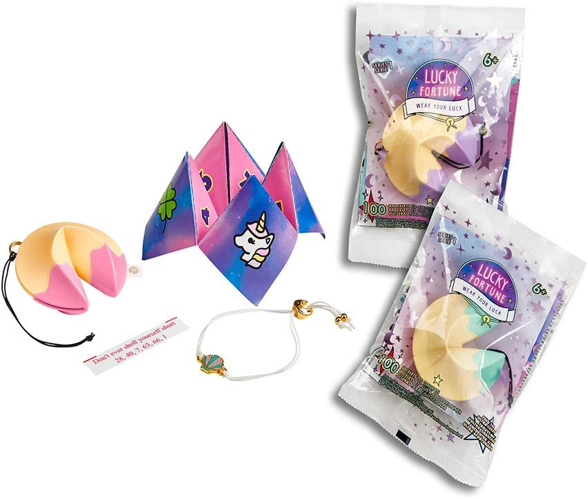 """*NEW* WowWee LUCKY FORTUNE /""""BFF Series/"""" 2 Cookies w 2 Surprise Mystery Bracelets"""