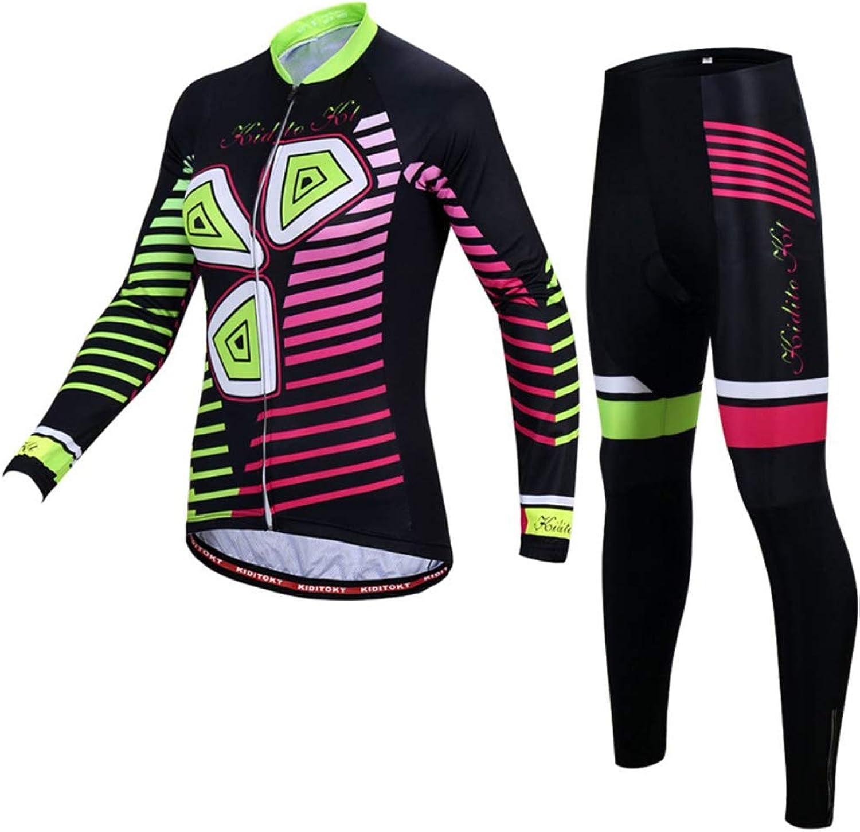 Summer Jersey Suit damen, Outdoor Riding Riding Riding Shirt Long Sleeve  3D Gel-Filled Bicycle Hose Moisture Wicking Slim B07NRWTJKQ  Langfristiger Ruf 0907a5