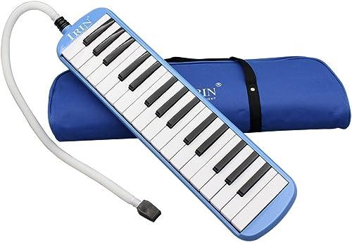 Instrument de musique Melodica pour les amateurs de musique débutants avec 32touches de piano cadeau avec sac de tra...