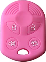 Rpkey Silicone Keyless Entry Remote Control Key Fob Cover Case protector For Ford Lincoln Mercury OUCD6000022 164-R8046 164-R7040 CWTWB1U722 (Pink)