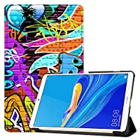 MAITTAO Case Compatible with Huawei MediaPad M6 8.4 2019, Slim Leather Folio Smart-Shell Stand Cover with Auto Wake/Sleep for Huawei Mediapad M6 8.4 Inch 2019 Released Tablet, Graffiti Wall 7