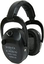Pro Ears GSPTSTLBLACK Pro Tac SC Gold, Noise Reduction Rating 25DB, Black