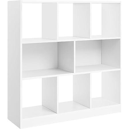 8 Cube Moderne Livre Tablettes Étagère Rangement Bibliothèque Display Unité Pied