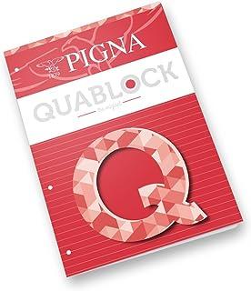 Pigna 00609771R Blocco Collati con 4 Fori A4, 5 quaderni x 50 Fogli