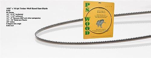 "2021 Timber Wolf Bandsaw Blade 3/16"" popular x 105"", 10 online TPI sale"