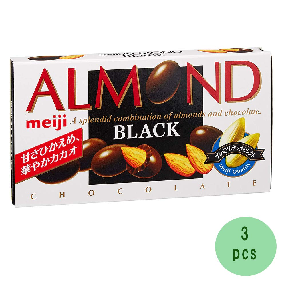 Reservation Almond Black 3.0oz 3pcs Japanese Ninjapo Cho-co-late Meiji Max 42% OFF