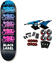 Black Label Skateboard Complete Run Off Black/Blue/Purple 8.25
