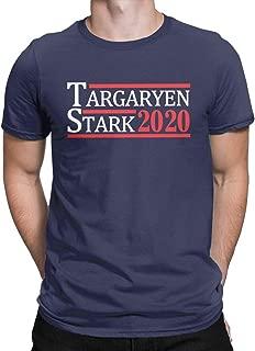 Targaryen and Stark for President Funny T Shirt 2020 Election Thrones Style Tops Tees Men
