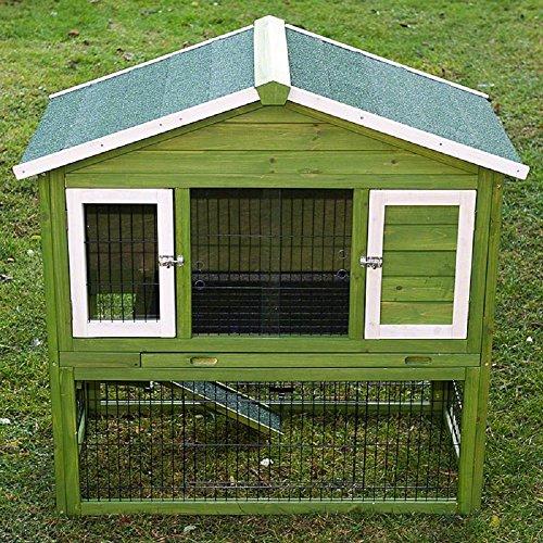 Alle Jahreszeiten Kaninchenstall mit Run isoliert geräumiges grün weiß Einfache Montage