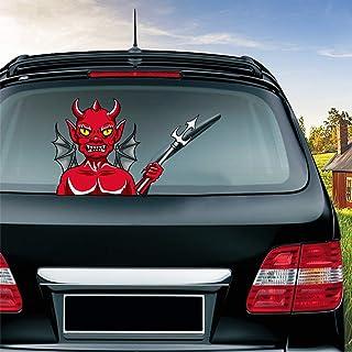 MIYSNEIRN Halloween Devil from Hell Waving Wiper Decal for Rear Window 3D Cartoon Festive Car Sticker Reusable Waterproof ...