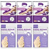 Foot Peel Mask 3 Pack and Moisturizing Hand Mask 3 Pack, Remove Feet Dead Skin Calluse & Repair Rough Hands, Lavender Scented
