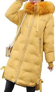 Women's Winter Warm Down Coat Slim Fit Outwear with Faux Fur Hooded