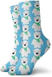 Dydan Tne, Cute Polar Bear Ice Blue Dress Calcetines Divertidos Calcetines Locos Calcetines Casuales para niñas Niños