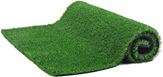 Settoo 100x100cm / 200x100cm Tapis d'herbe Artificielle -Fake Herbe Tapis Green Lawn Tapis de pelouse réaliste Intérieur à...