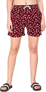 Kiba Retail Casual Wear Cotton Check/Printed Shorts for Girl's & Women's Pack of 1 (Size-26, 28, 30, 32, 34)
