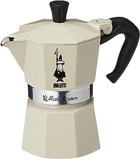Bialetti: Set Light Beige Moka Express 3 Cups + 1 Paper Notebook in Tin Box [ Italian Import ]