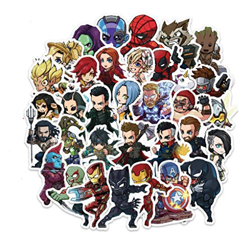 votgl 100PCS DC Superhero Marvel Hero Sticker Movie Sticker voor DIY Sticker op Travel Case Laptop Skateboard Gitaar Koelkast Telefoon Decel