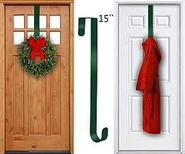 TAIDOU Wreath Hanger for Over The Front Door 1Pcak - Outdoor Door Rust-Proof and Sunscreen Long Christmas Wreath Hook 15