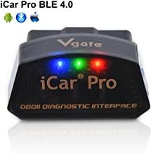 Vgate-LPHUS iCar Pro Bluetooth 4.0 (BLE) OBD2 Fault Code Reader OBDII Code Scanner Car Check Engine Light iOS iPhone iPad/Android Compatible ELM327 Adapter