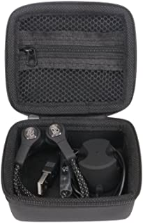 Hzjundasi Portable Hard ケースカバーポーチバッグボックス収納 for B&O PLAY by Bang & Olufsen Beoplay H5 Wireless Earbuds Earphones Headphones Extra Room for USB Cable&Dock Charger(Black)