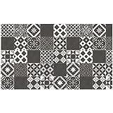 douceur d'intérieur tapis rectangle 100x170 cm vinyle marbella noir