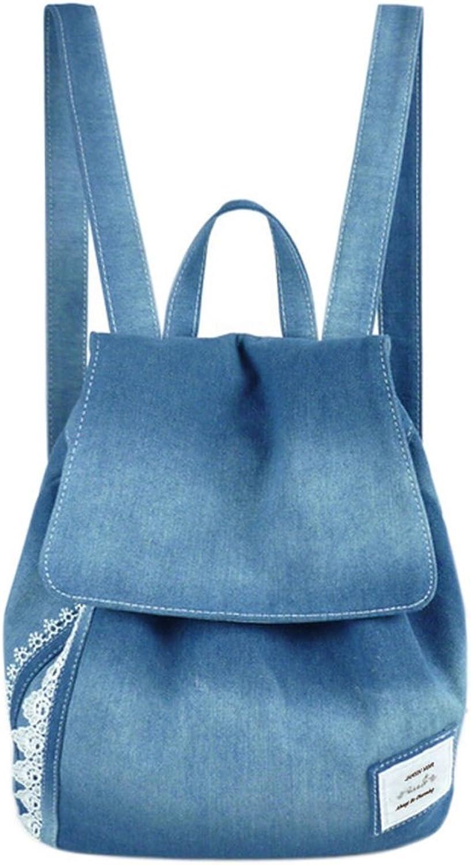 A POCKET OF SUNSHINE backpacks jeans lace shoulder bag womens bag canvas school bag
