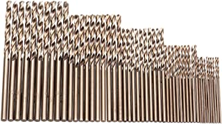 Hymnorq Metric M35 Cobalt Steel Extremely Heat Resistant Twist Drill Bits with Straight Shank Set of 50pcs in 5 Sizes(1, 1.5, 2, 2.5, 3mm) for Stainless Steel Cast Iron and Hard Metals