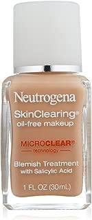 Neutrogena SkinClearing Oil-Free Makeup, Medium Beige [80] 1 oz
