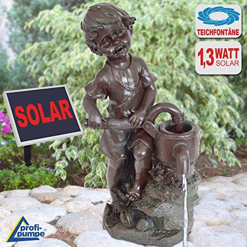 Springbrunnen für den Garten, solarbetrieben, mit Pumpe, für Außenbereiche; Wasserspiel Motiv