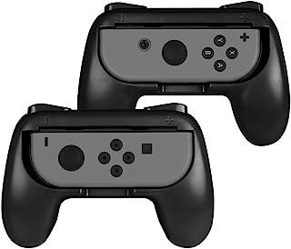 Fintie ジョイコンハンドル 任天堂 Joy-Conハンドル Nintendo Switch Joy-Con グリップ 【2個セット】装着簡単 耐磨 反応素早い ゲームコントローラ (ブラック)
