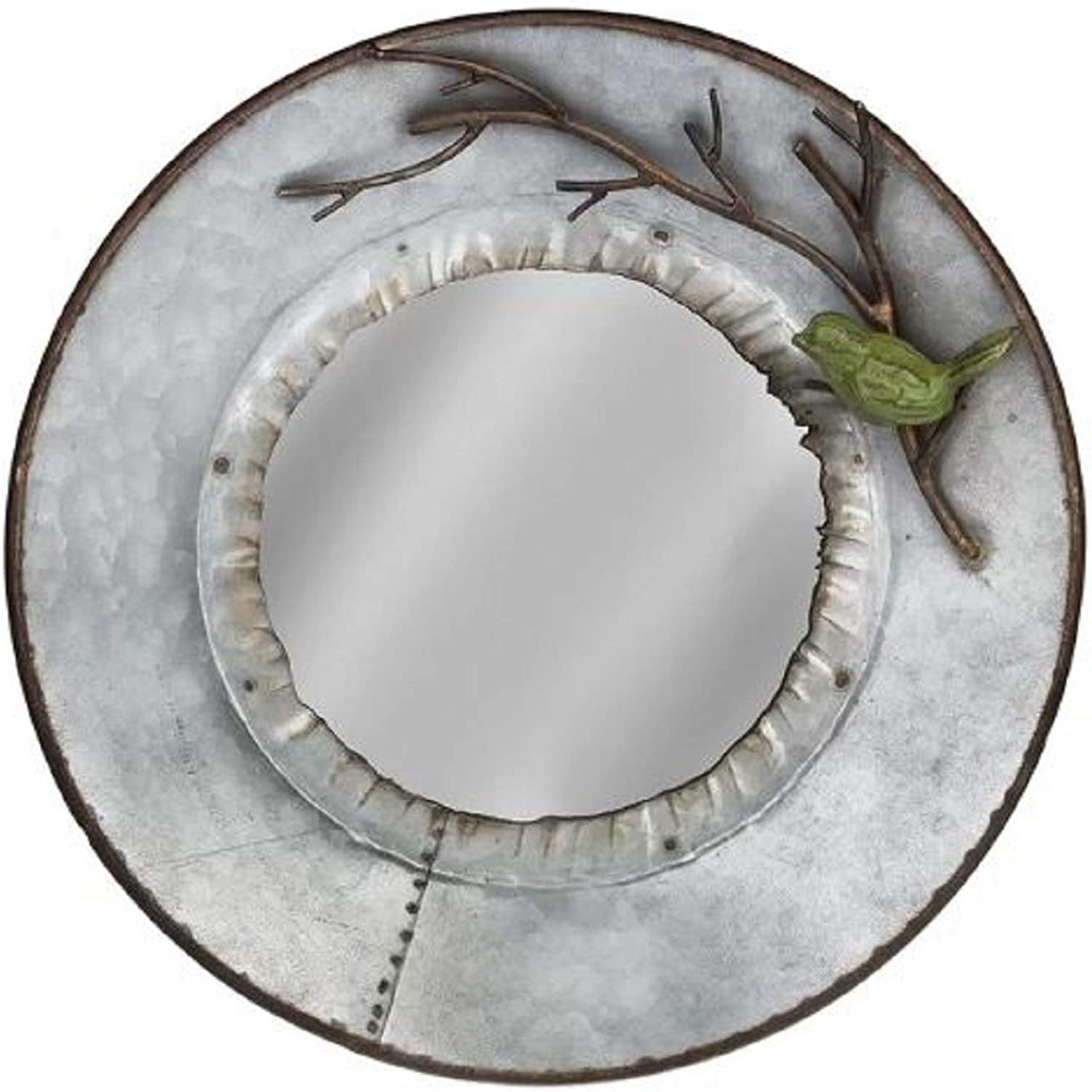 House Decoration Modern Accent Mirror. Round Annabell House Decoration Modern Accent Mirror Framed Metal Wall Mounted Grey