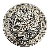 HARPIMER 1887 Moneda Conmemorativa del Dólar De Plata Estadounidense Morgan Moneda Conmemorativa Moneda, Moneda De...