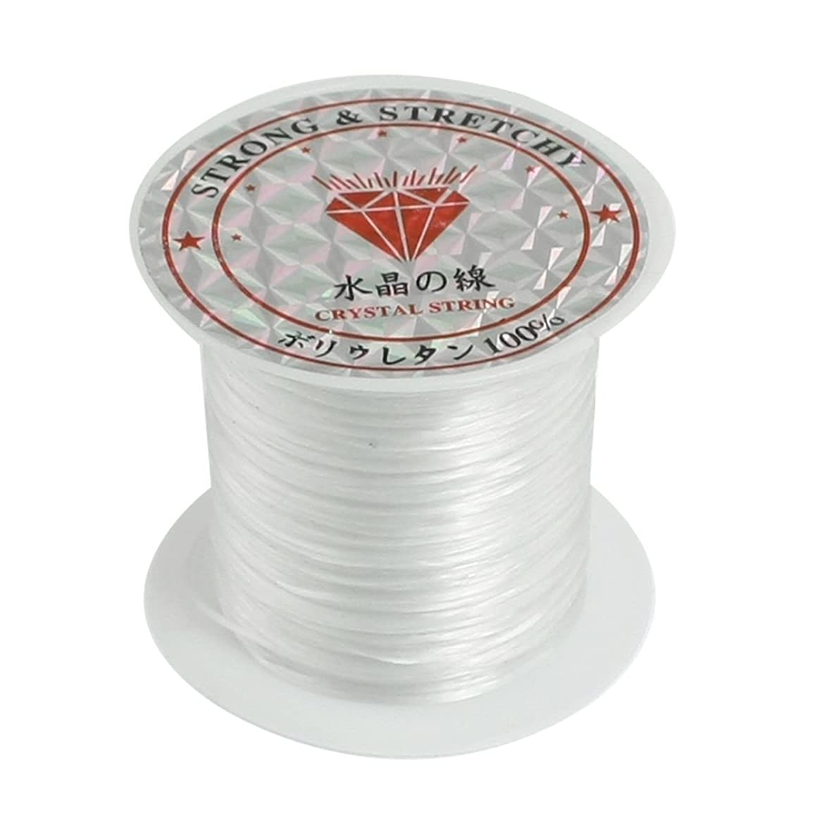 Crystal Thread,Vayne 2Rolls Bead Craft Crystal, Stretchy String/Thread,White Elastic Round Line Bobbin Beading Jewelry Making Bracelet Crystal String Cord Dia 0.5-0.6mm