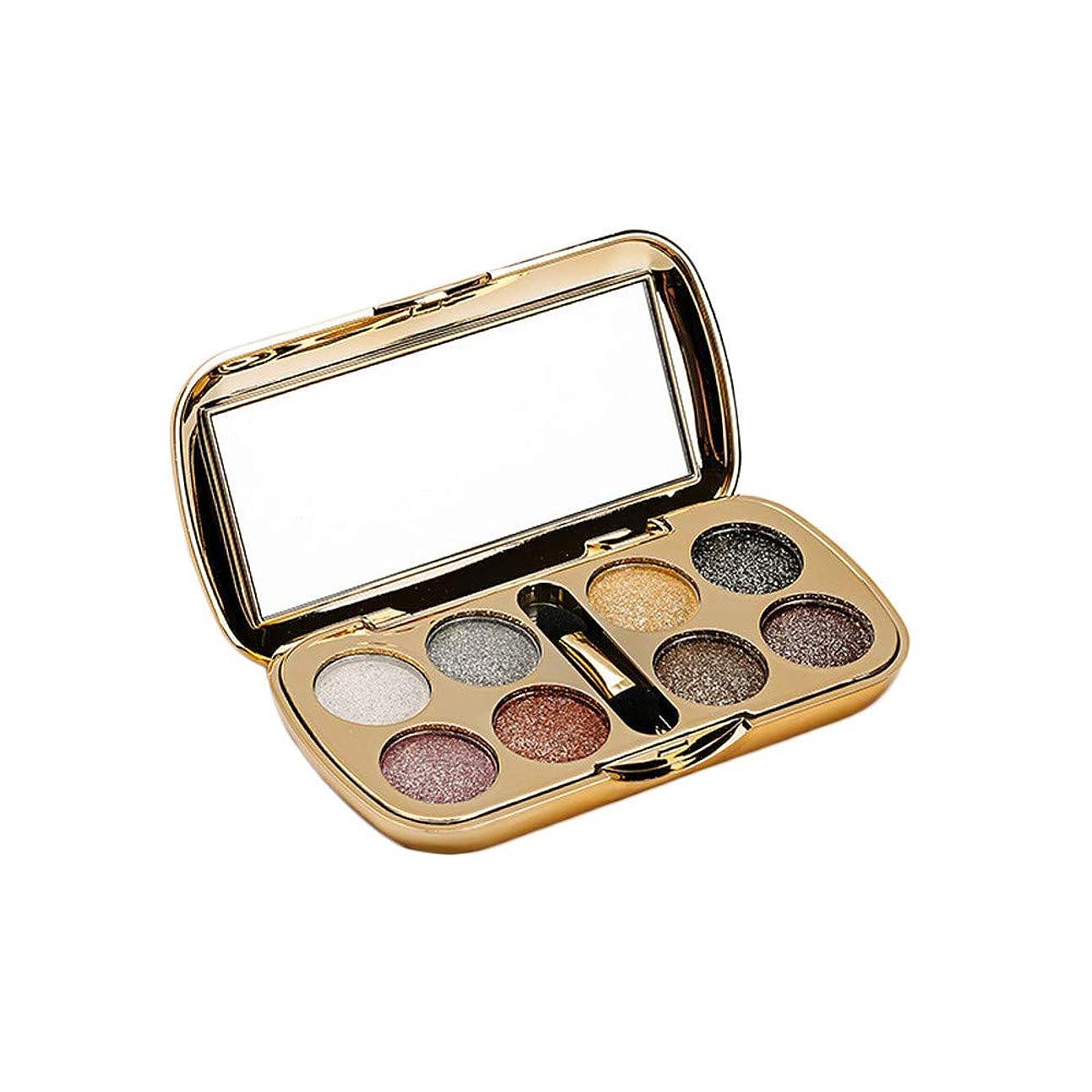 眼罹患率マリナーAkane アイシャドウパレット Lameila 綺麗 魅力的 ファッション 人気 気質的 キラキラ ダイヤモンド チャーム 防水 長持ち おしゃれ 持ち便利 Eye Shadow (8色) 3551