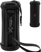 Protective Hard Case for JBL Flip 4 Waterproof Portable Bluetooth Speaker, Travel Carrying PU Leather Cover Storage Bag with Hand Strap