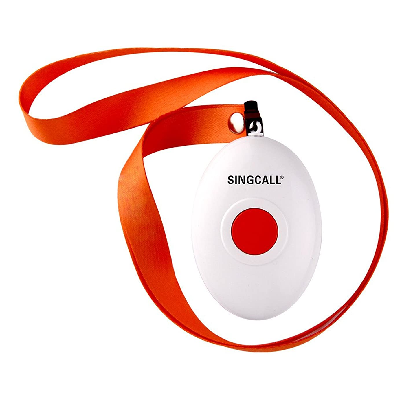 SINGCALL Oval Rounded Shape with Lightweight, Comfortable to Wear, More Convenient, Fit for Old, Patients Children, Suitable to Patrol Officers' Calling, One-button Pager(APE160) Can't Be Used Alone!!