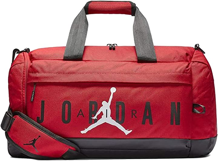 Borsa palestra nike air jordan velocity duffle bag (one size, gym red) B07QQD3799