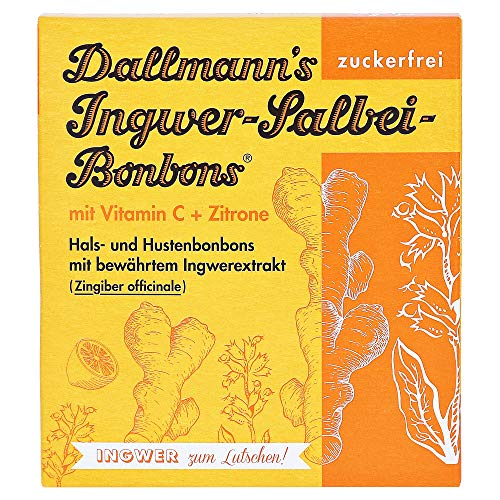 Dallmann's Ingwer-Salbei-Bonbons, 37 g