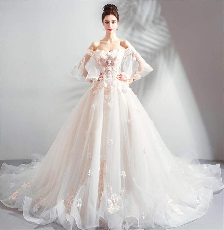 Wedding Dress, Luxury Noble White Organza VNeck Strapless Bridal Wedding Princess Birthday Party Evening Dress