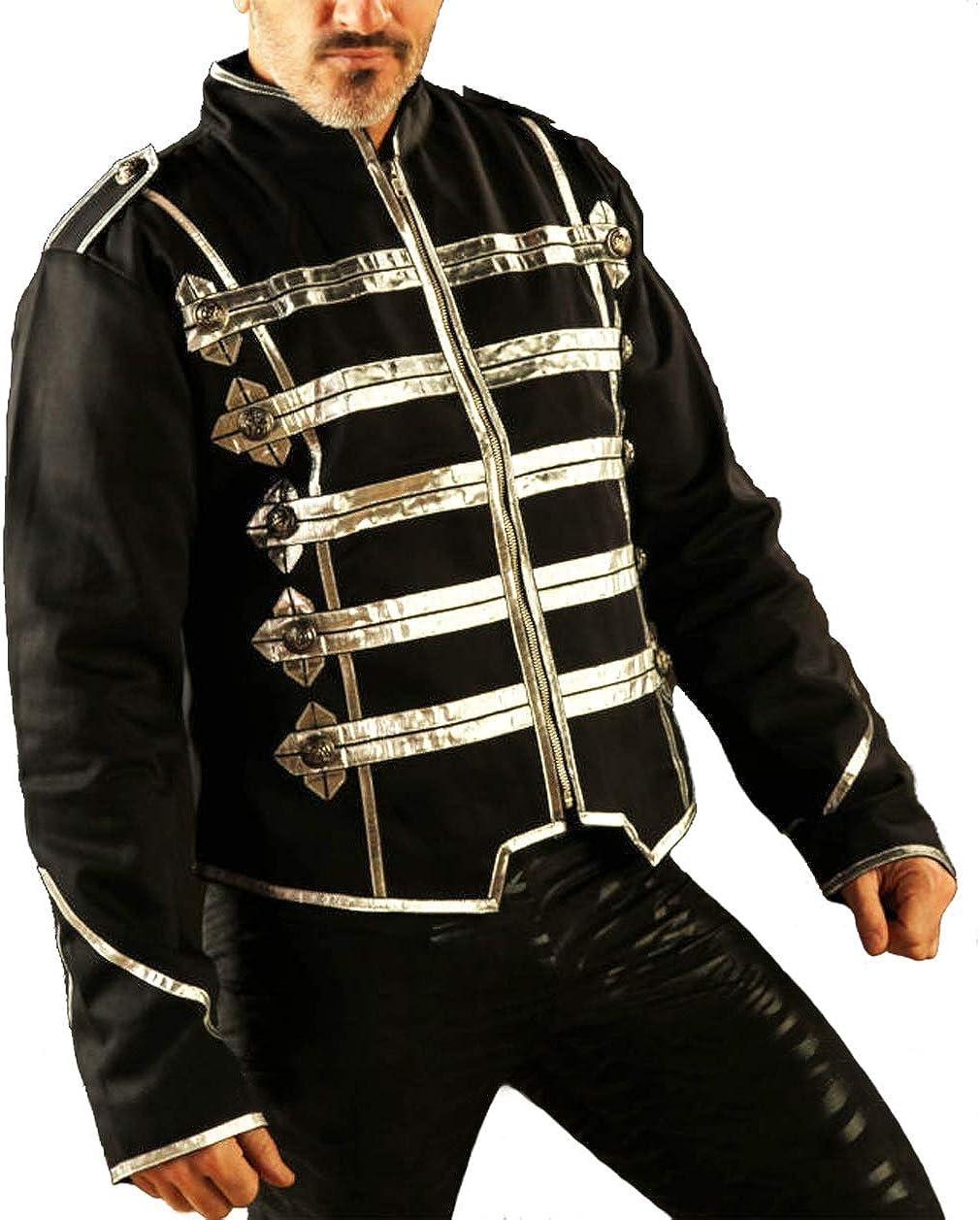 Men's Military Short Cotton Over item handling ☆ Jacket Top Popular overseas Zip Silver Grid Front STP