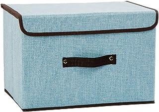 Boîte De Rangement En Tissu Avec Couvercle Et Poignée Finition Pour Vêtements Pliable Boîte De Rangement Pour Armoire, Fam...