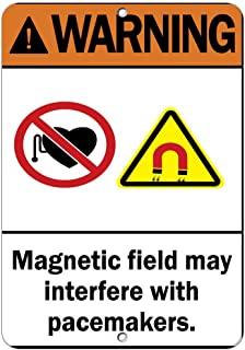magnetic field warning label