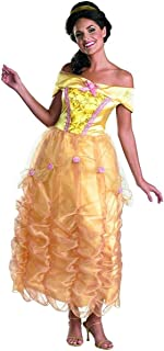 Disguise Disney Beauty And The Beast Belle Adult Deluxe Costume, Gold/Yellow/Pink, Medium/8-10
