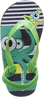 FLIPSIDE Unisex Kid's Squid Green Flip-Flops