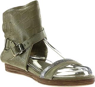 Zapatillas Moda Sandalias Botines Abierto Mujer Perforado Tanga Hebilla Talón tacón Plano 4 CM